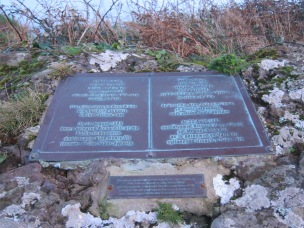 Plaque commemorating landing of Henry, Earl of Richmond.